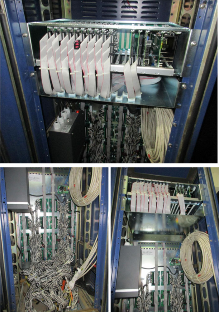 SeaCom 240lines installed in MRC MCX-3240 / Samsung iDCS500 telephone system cabinet.